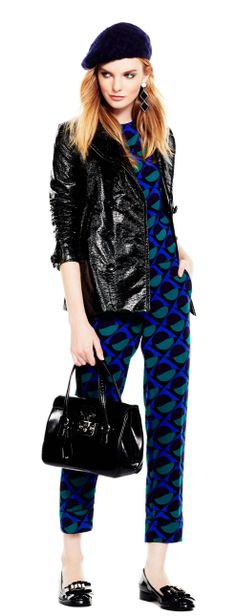 Mod Squad  Channel '60s cool with matching graphic prints and a stylish beret.