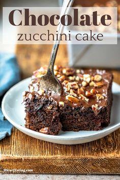 Easy, one-bowl chocolate zucchini cake! Best way to use zucchini!