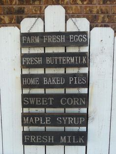 FARM FRESH EGGS wood signs primitive farmhouse country home/kitchen wall decor #Unbranded #Country