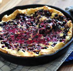 Oven puffed pancake, dutch baby, swedish pancake, whatever you call it--this recipe never fails. So good.
