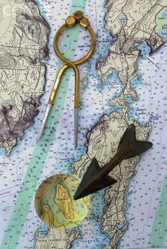 Nautical Map- would be cute for guest sign-in board