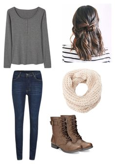 """Winter outfit"" by madisenharris on Polyvore featuring Cheap Monday, MANGO, Charlotte Russe and American Rag Cie"