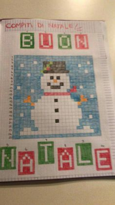 pixel art Christmas Math, Christmas Crafts, Beading Patterns, Knitting Patterns, School Border, Graph Paper Art, Code Art, Pixel Art, Coding For Kids