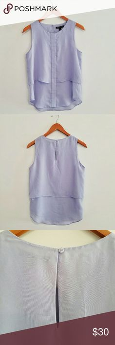 """🆕 Banana Republic Pale Purple Sleeveless Blouse Beautiful color pale purple sleeveless blouse by Banana Republic. Button closure in the back. New without tag condition.    Size S.  Measures approximately:  Back- 24.75"""" L from top middle to hem Front- 21"""" L from middle neck to hem 18"""" across from underarm to underarm Banana Republic Tops Blouses"""