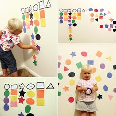 Add a variation instead of matching shapes they're matching colors. Cute idea.