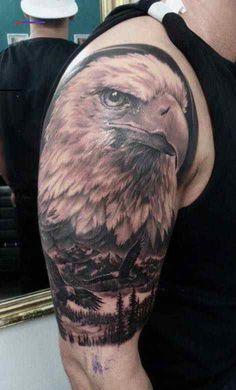 Ideas Tattoo Shoulder Eagle Tatoo For 2019 Body Art Tattoos, Sleeve Tattoos, Cool Tattoos, Tatoos, Wing Tattoos, Tattoo Studio, Tattoo Wallpaper, Eagle Shoulder Tattoo, Eagle Tattoo Arm