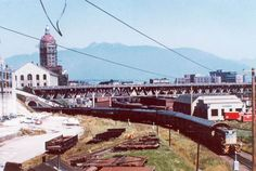Early stages of the Viaduct British Columbia, Vancouver, Old Things, Tower, History, Street, Building, Travel, Vintage