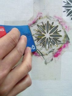 printmaking with credit/ shop voucher card