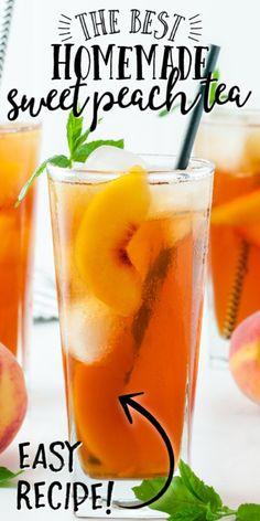 Sweet Tea Recipes, Iced Tea Recipes, Fruit Recipes, Drink Recipes, Punch Recipes, Cocktail Recipes, Appetizer Recipes, Recipies, Appetizers