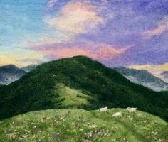 Felted landscapes for sale