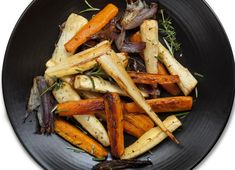 Winter root vegetables are often overlooked in favor of the more popular kale, broccoli and the like. But root vegetables are not only deliciously versatile, they're also full of health benefits. Winter Root Vegetables, Roasted Root Vegetables, Root Veggies, Roasted Carrots And Parsnips, Carne Asada, Vegetable Recipes, Vegetable Medley, The Best, Healthy Eating