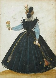 Lady Dressed in the French Style,  Album Amicorum of a German Soldier 1595 Los Angels County Museum of Art