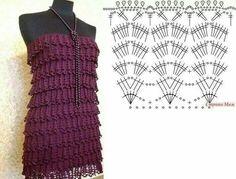 Top dress crochet pattern women