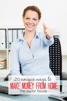 Blog post at The Taylor House : We all have times when we could use a little extra cash in our pockets, and these 20 Unique Ways To Make Money From Home are perfect for tho[..]