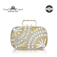 Artemis'Iris Women Evening Handbag Floral Diamante Crystals Party Purse Bridal Bag with Finger Design Opener (Crystal Diamonds) Fingers Design, Wholesale Bags, Rain Shower, Cheap Bags, Artemis, Bag Sale, Evening Bags, Iris, Diamonds