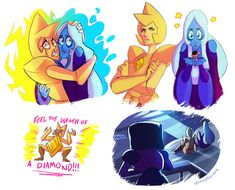 Masked Golem — Proposed Theory: White Diamond can resurrect gems. Lapidot, Blue Diamond Su, Yellow Diamonds, Pink Sapphire, Diamond Doodle, White Diamond Steven Universe, Cartoon Network, Sailor Moon, Pearl Steven