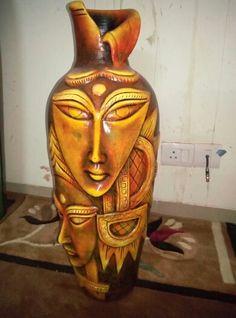 Terracotta pot for home decoration