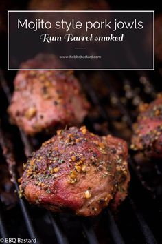 Mojito style Pork jowls are made of the rarely used pork cheeks! Rarely used yet my favorite part! Try smoking the cheeks and you will love your new BBQ meal! Time to become the new grill king. Grilling Recipes, Pork Recipes, Lunch Recipes, Vegetarian Recipes, Dinner Recipes, Barbecue Recipes, Pork Cheeks, Best Pork Recipe, Gourmet
