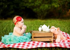 6 month photos | tea party