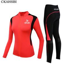 US $34.49 CKAHSBI Autumn Long Sleeve Woman UV Protect Cycling Jerseys Suit Mountain Bike Quick Dry Breathable Riding Jersey Clothing Sets. Aliexpress product