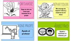 Roles y estrategias cooperativas Bilingual Classroom, Classroom Rules, Spanish Classroom, Teaching Spanish, Teaching Activities, Teaching Tools, Classroom Activities, Teaching Ideas, Cooperative Learning Strategies