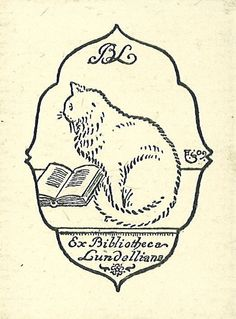 [Ex libris Birger Lundell] by Stifts- och landsbiblioteket i Skara, via Flickr