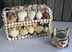 Decorated shell boxes- Itsy Bits And Pieces