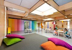 JSRACS Kindergarten in Australia   colour + natural materials
