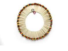 rare Martha Sleeper matchstick bakelite and celluloid necklace sold at Bonhams in 2009 for $4880!