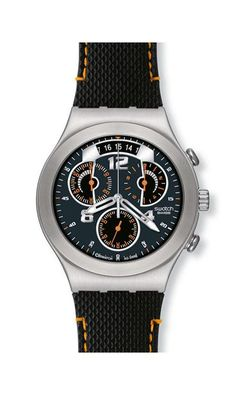 46f18b429e1 Swatch Men s Irony Quartz Watch with Blue Dial