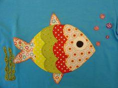 La casita de Caperucita: Camisetas de aplicaciones patchwork para ...