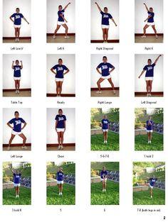 Basic Cheer Motions | Cheerleaders Cheers and Chants | Pinterest ...