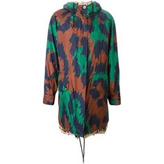 Diane Von Furstenberg Reversible Hooded Fur Parka ($6,145) ❤ liked on Polyvore featuring outerwear, coats, green, parka coat, reversible coat, green parka coat, green hooded coat and diane von furstenberg