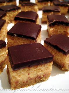 Quadrados de Cheesecake de Doce de Leite