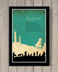 The Lord of the Rings  The Fellowship of the by MINIMALISTPRINTS