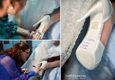 Wedding Ideas : let your bridesmaids sign your bride shoes! Photo © www.scattidigioia.com
