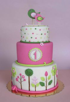 1st Birthday cake. Oh my lord...That is so precious!!!!!!!!!! -agree, it's precious. wish i could work magic like this w/fondant.