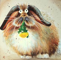 Kim Haskins ~ Rabbit With Dandelion