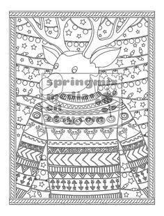 printable xmas coloring page christmas treats holiday coloring book adult coloring page xmas - Holiday Coloring Book