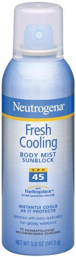 Save $7.85 on Neutrogena Fresh Cooling Body Mist Sunblock SPF 45, 5 Ounce; only $5.99