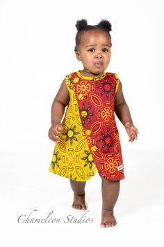 Handmade in South Africa. Baby African Clothes, African Dresses For Kids, African Children, African Print Dresses, African Babies, African Attire, African Wear, African Fashion, Baby Girl Fashion