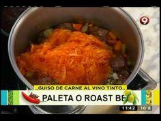 Receta de hoy: Guiso de carne y fideos moñito - YouTube