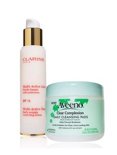 """Your aging concerns """"In the mid-20s, there's still a lot of wonderful springy elastin and collagen around,"""" Bank says. Of course, if you've had a lot of sun exposure, you might be starting to see some texture changes, """"but that doesn't mean it's not happening,"""" Schultz says. Now is the time to start a preventative antiaging regimen. Another issue: Your skin might be a little on the oily side, which can lead to clogged pores and breakouts. Your antiaging plan:"""