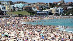 Busy Bondi Beach Sydney