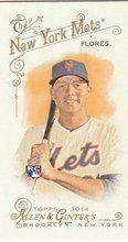 2014 Topps Allen Ginter Baseball Mini #47 Wilmer Flores, New York Mets