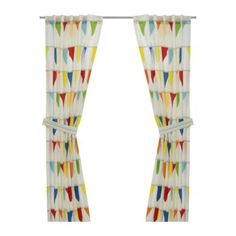 Ikea - not sure about curtains...would like wooden blinds but these are fun!