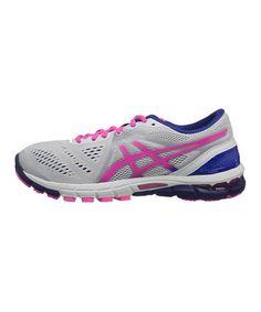 Another great find on #zulily! White & Hot Pink GEL-Excel 33 Running Shoe #zulilyfinds