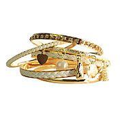 Bracelete de Pele com Pendente em Pérola (6pç... – BRL R$ 11,74