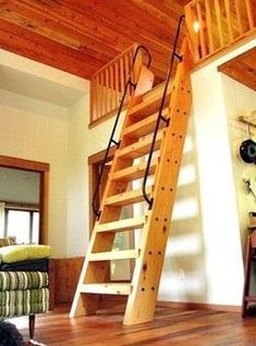 Guest Bedroom Loft with Ships Ladder. I'd love to once again be one of the … Guest Bedroom Loft with Ships Ladder. I'd love to once again be one of the kids in this place together and exploring around. Looks like a neat place to me. Attic Loft, Attic Rooms, Bedroom Loft, Attic Ladder, Loft Ladders, Attic Bathroom, Attic Office, Attic Window, Attic Apartment