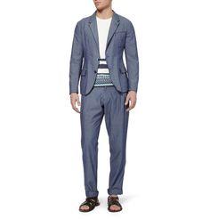 Dolce & GabbanaBlue Slim-Fit Chambray Suit Jacket|MR PORTER